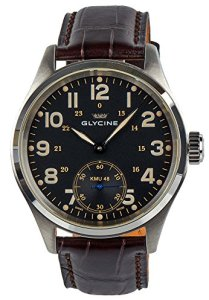 Glycine KMU 48 Kriegs Marine Uhren Manual Wind Stainless Steel Mens Watch 3906.19AT LB33