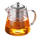 Glass Teapot with Infuser Tea kettle Tea Pot 32 oz /950 mlGlass Teapot Infuser Stove Top with Stainless Steel Infuser for Blooming and Loose Leaf Tea Large Capacity