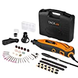 TACKLIFE Rotary Tool Kit Variable Speed with Flex shaft, 80 Accessories, 3 Attachments and Carrying Case, Multi-functional for Around-the-House and Crafting Projects-RTD35ACL
