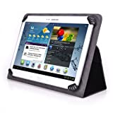 Supersonic SC-1010JB 10 Inch Tablet Case - UniGrip 10 Edition Folio Case - BLACK - By Cush Cases