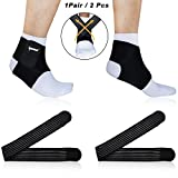 Ankle Support,Adjustable Ankle Brace Breathable Nylon Material Super Elastic and Comfortable with Adjustable Strap, Perfect for Sports, Protects Against Chronic Ankle Strain, Sprains Fatigue(Small)