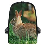 Backpack Cute Bunny Rabbit Personalized Shoulders Bag Classic Lightweight Daypack