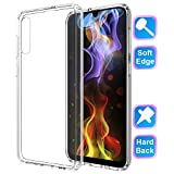 GSDCB Samsung Galaxy A50 Case (2019), Samsung A50 Case Air Cushion Shockproof Phone Protective Case with Hard PC Back Cover Hybrid Soft TPU Edge Ultra Thin Slim Fit for Women Men Girl Kid Boy Clear