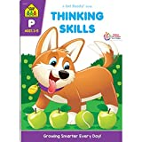 School Zone - Thinking Skills Workbook - 64 Pages, Ages 3 to 5, Preschool to Kindergarten, Problem-Solving, Logic & Reasoning Puzzles, and More (School Zone Get Ready!TM Book Series)