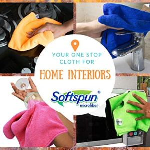 SOFT SPUN Microfiber Cleaning Cloths Multi-Colour And Multi Use