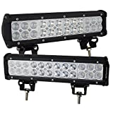 Willpower 2Pcs 12' Inch 72W Flood Spot Combo Beams Led Work Light Bar 7200LM for ep off road Van Camper Wagon ATV AWD SUV 4WD 4x4 Pickup Van Off-road Boat Vehicle 10-30V IP67 Waterproof