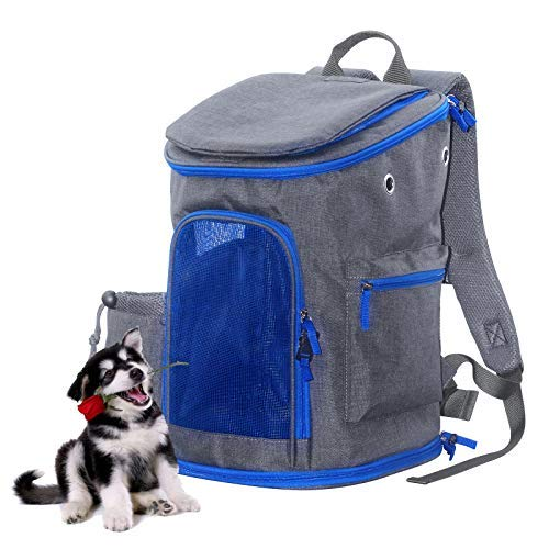 Pet Carrier Backpack for Small Cats and Dogs, Ventilated Design Safety Features and Cushion Back Support   for Travel, Hiking, Outdoor Use Petsfit Backpack 1