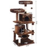 BEWISHOME-Cat-Tree-Condo-Furniture-Kitten-Activity-Tower-Pet-Kitty-Play-House-with-Scratching-Posts-Perches-Hammock-MMJ01