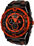 Stuhrling Original Men's 220XL.332R557 Aviator Falcon Blazer Swiss Quartz Multi Function Orange Watch