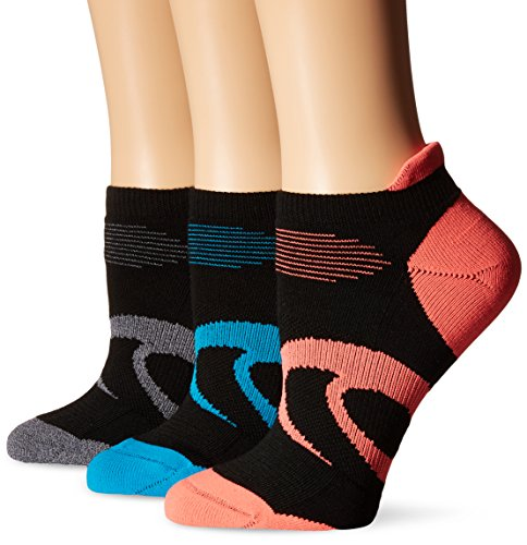 ASICS Women's Intensity Single Tab Socks, Black Assorted, Small