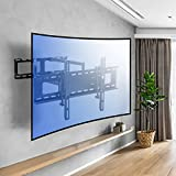 Sunydeal Curved TV Wall Mount Bracket for Most 30-70 Inch Curved TV and Flat Screen with Full Motion Articulating Swivel Arm up to VESA 600x400mm and 121LBS