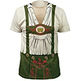 Octobeerfest Costume T-Shirt Green (3X-Large)