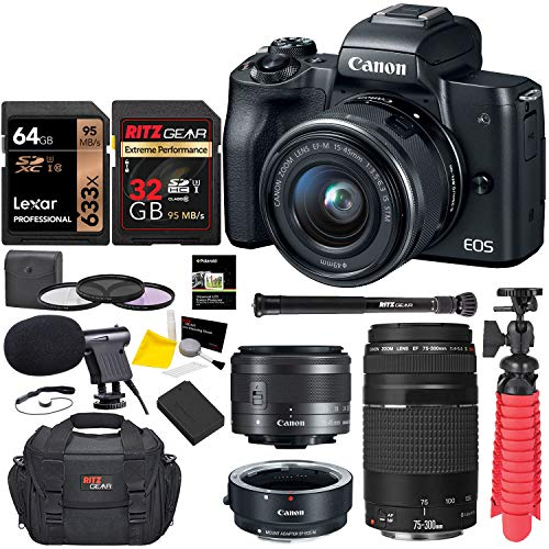 Canon-EOS-M50-Mirrorless-Digital-Camera-with-EF-75-300mm-III-U3-Memory-Card-and-Lens-Bundle
