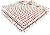 Fecido Fruity Kitchen Collection Dish Towels - Heavy Duty - Super Absorbent - 100% Cotton - The Best European Tea Towels With Fruit Design - Set of Two, Red Strawberry