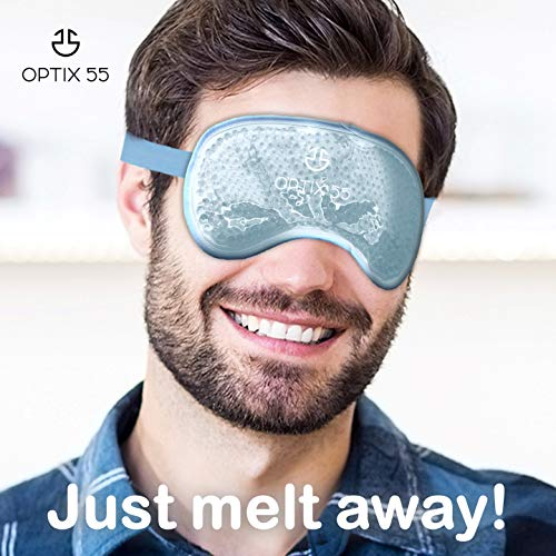 Scorching or Chilly Medical Eye Masks – Reusable Cooling Compress For Puffy, Swollen, Dry or Itchy Eyes, Sinus Headache, and Migraines – Microwave or Freeze – Blue – by Optix 55 deal 50% off 51j4pMN0mSL