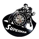 Vinyl Wall Clock Superman Vintage Record Clock
