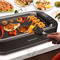 Indoor-Grill-Electric-Grill-Techwood-Indoor-Smokeless-Grill-1500W-Power-Electric-BBQ-Grill-with-Glass-Lid-Removable-Non-Stick-Grill-Plate-Turbo-Smoke-Extractor-Technology-LED-Smart-Control-Panel