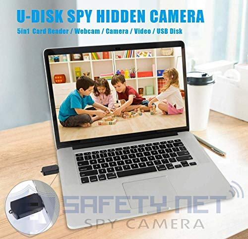 51j8Uny5IyL SAFETYNET Mini Spy Camera with U Disk Indoor Outdoor Portable Camera HD Small Security Surveillance Camera Hidden Video Recorder with Audio Hd Motion Detected Digital Video