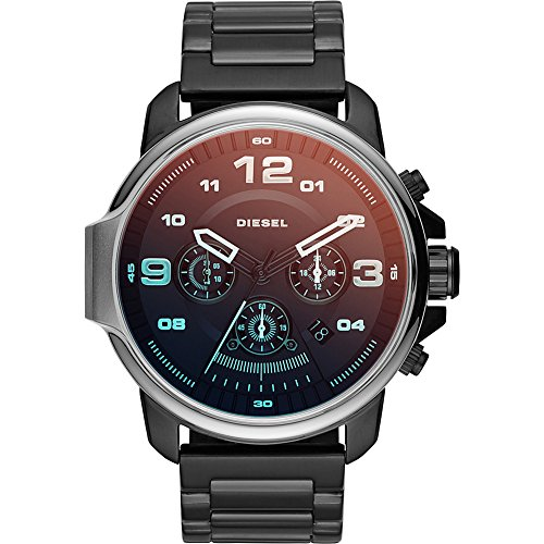 51j8ZnUQTWL Case thickness: 13 mm; case size: 50 x 55 mm; band width: 24 mm; strap circumference: 200 +/- 5 mm Strap material: stainless steel; movement: chronograph; water resistance: 10 atm Quartz Movement