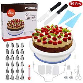 Piatto rotante per torta con spatola - 24 punte e 3 raschietti