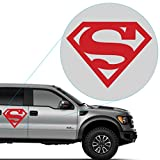 """Yoonek Graphics Superman Decal Sticker for Car Window, Laptop and More. # 805 (12"""" x 15.5"""", Red)"""