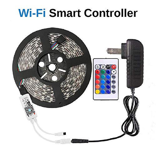 WenTop LED Light Strip Wifi Wireless Smart Phone Controlled Strip Lights Kit Works with Android and IOS ,IFTTT, Google Assistant