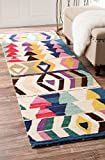 nuLOOM Ofelia Hand Tufted Wool Runner Rug, 2' 6' x 8', Multi