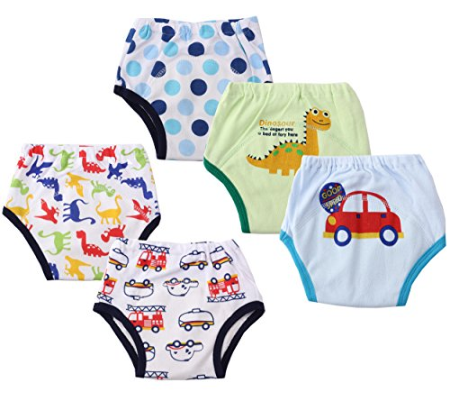 Dimore Baby Toddler 5 Pack Cotton Waterproof Training Pants...