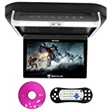 Rockville RVD10HD-BK 10.1' Flip Down Monitor DVD Player, HDMI, USB, Games, LED