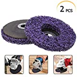 """2pcs 5"""" 125mm Poly Strip Disc Wheel Paint Rust Removal Quick Strip Disc for Angle Grinder"""