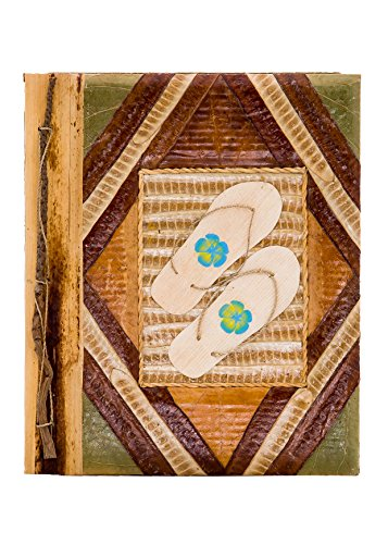 DK Hawaiian Collections Natural Banana Leaf Notebook Style Photo Album (Medium, PTL-M3)