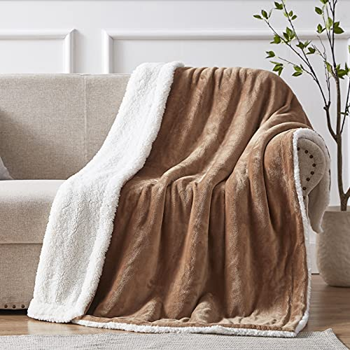 SEMECH Sherpa Throw Blanket Throw Size, Sherpa Fleece Throw Blanket Lightweight, Reversible Sherpa Blanket Machine…