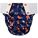 HappyEndings Toddler/Kid Pull On Reusable Cloth Diapers/Training Pants (Medium, (Fits 35-50lbs), Blast Off!)