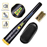 RM RICOMAX Metal Detector Pinpointer -【3 LED Range Indicators & Buzzer Vibration Sound】【IP66 Partially Waterproof & 10.8' Lightweight】Handheld Metal Detector Pinpointer with Belt Holster