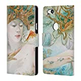 Official Stephanie Law Entertaining The Daydream Sea Creatures Leather Book Wallet Case Cover Compatible for Google Pixel 2