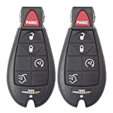 Keyless2Go Keyless Remote Fobik Key Fob Replacement for Jeep Vehicles That Use 5 Button M3N5WY783X (2 Pack)