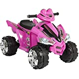 Best Choice Products 12V Kids Battery Powered Electric 4-Wheeler Quad ATV Ride-On Toy w/ 2 Speeds, Horn, Engine Sounds, Music, LED Lights - Pink