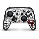 Skinit Superman Comic Logo in Red Nintendo Switch Pro Controller Skin - Officially Licensed Warner Bros Gaming Decal - Ultra Thin, Lightweight Vinyl Decal Protection