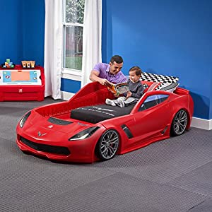 Review and Comparison of the Step2 Corvette Z06 Bed with Lights 2
