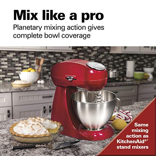 Hamilton-Beach-Eclectrics-All-Metal-12-Speed-Electric-Stand-Mixer-Tilt-Head-45-Quarts-Pouring-Shield-Red-63232