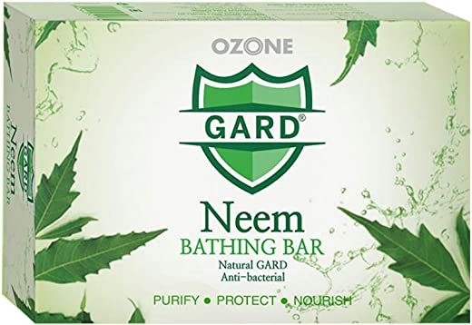 Ozone Ayurvedics Neem Soap for Acne, Pimples and Rashes Facial and Body Bathing Bar. Best for oily & acne prone skin - 125 Gm. Enriched with 100% Natural Neem Extract - (Paraben/Sulphate/Silicon-Free), 125 G - Combo Pack of 6