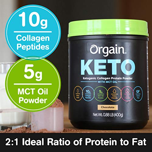 Orgain Keto Collagen Protein Powder with MCT Oil, Chocolate - Paleo Friendly, Grass Fed Hydrolyzed Collagen Peptides Type I and III, Dairy Free, Lactose Free, Gluten Free, Soy Free, 0.88 Pound 3
