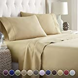 Hotel Luxury Bed Sheets Set-SALE TODAY ONLY! #1 Rated On Amazon..Ultra Silky Softest Bed Sheets 1800 Series Platinum Collection- Top Quality Linens with 100% Money Back Guarantee!! Vibrant Colors, Wrinkle & Fade Resistant Bedding Sheets..The Ultimate in Comfort..(Queen, Camel)
