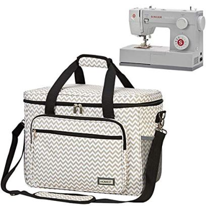 HOMEST-Universal-Sewing-Machine-Case-with-Multiple-Pockets-for-Sewing-Notions-Tote-Bag-Compatible-with-Singer-Quantum-Stylist-9960-Singer-Heavy-Duty-4423-Patent-Pending-RIPPLE