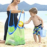 ZHLL Extra Large Beach Mesh Tote Bag Beach Toys Shell Bag Stay Away from Sand Lightweigh Toy Organizer Storage Bag,Perfect for Holding Childrens' Toys