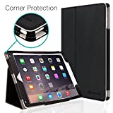 CaseCrown iPad Air 2 Case, [CORNER PROTECTION] Bold Standby Pro (Black) with Sleep/Wake & Multi-Angle Viewing Stand