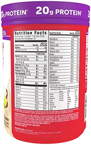 SlimFast Advanced Nutrition Vanilla Cream Smoothie Mix – Weight Loss Meal Replacement – 20g Protein – 11.4 Oz. Canister – 12 Servings (Pack of 2) - Pantry Friendly 2