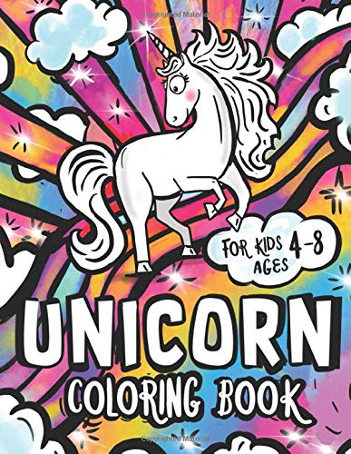 Unicorn Coloring Book Cute And Funny Unicorn Illustrations For Kids Ages 4 8 Alber Diane 9781733852692 Amazon Com Books