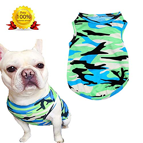 Petea Pet Apparel Fashion Dog Cats Camouflage Summer Vest Clothes Pet Puppy Clothes for Dogs and Cats 1