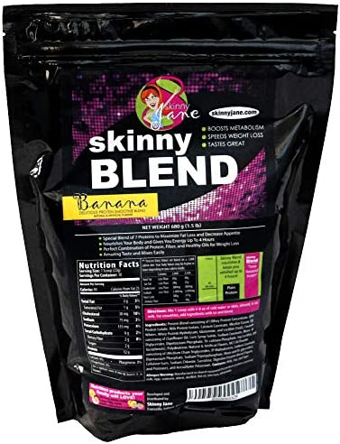 Skinny Blend - Best Tasting Protein Shake for Women - Smoothie Powder - Weight Loss Shakes - Meal Replacement - Low Carb Protein Shake - Diet Supplements - Appetite Suppressant - 30 Shakes (Banana) 1
